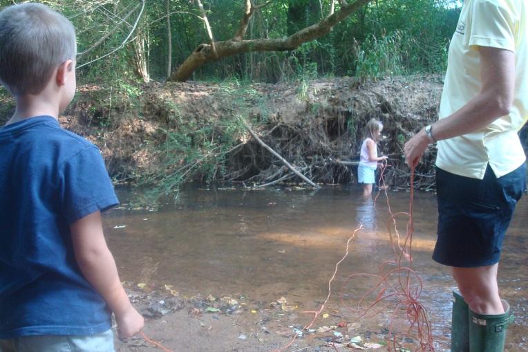 Measuring the creek width