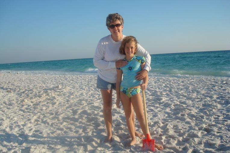 Joy & I on the beach
