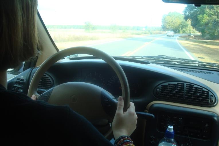Glory's behind the wheel