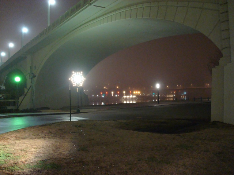 A foggy Chattanooga evening