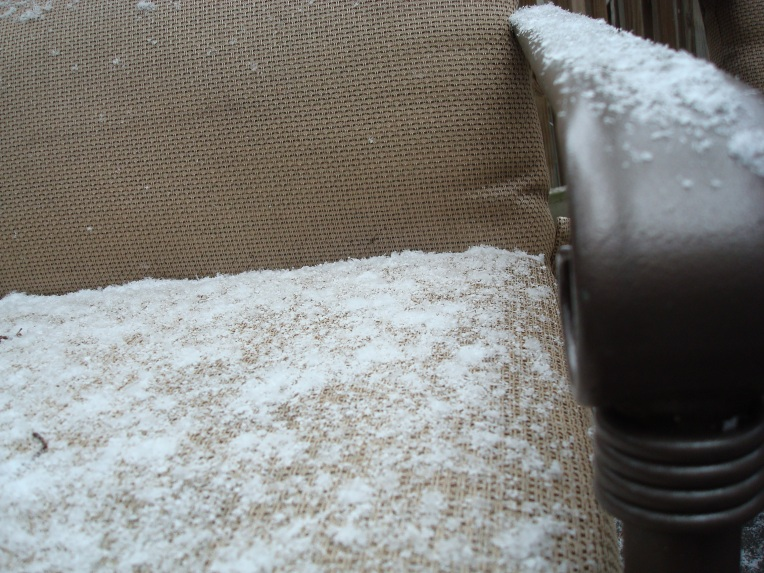 A chair full of snow - by Georgia standards