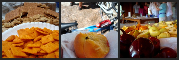 Rest stop goodies ..... I got the very last peach on the table. It was DELECTABLE.