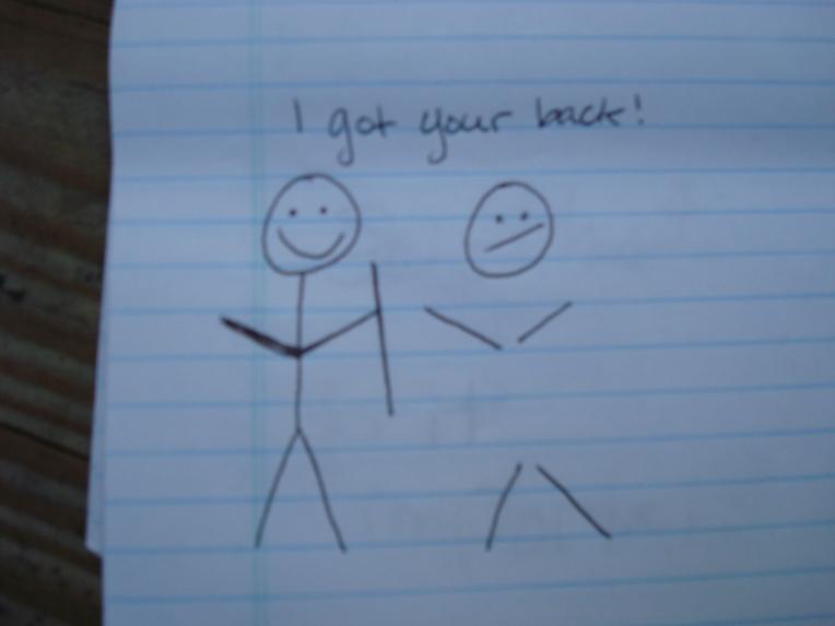 I got your back : )