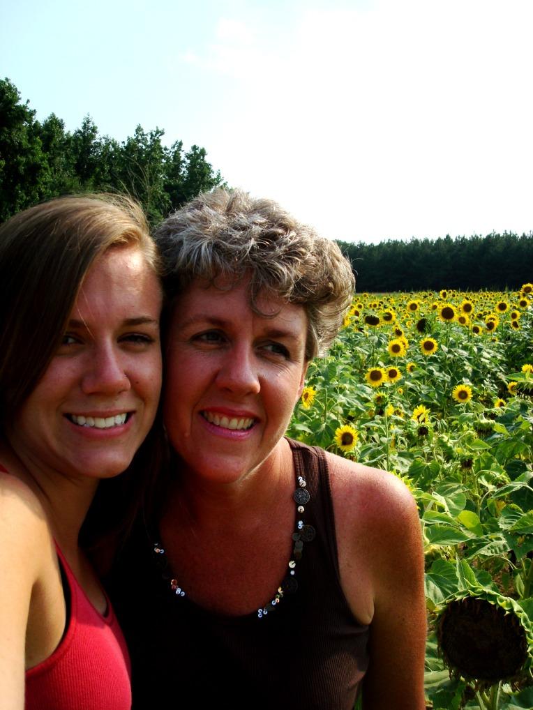 My sunshiney girl and I