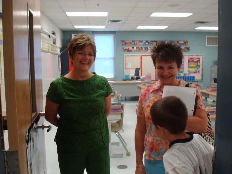 One of Joy's teachers, on the left, with another Mom and student
