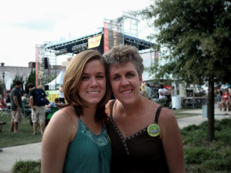 Glory & I at Arts in the Heart art festival here in Augusta this weekend