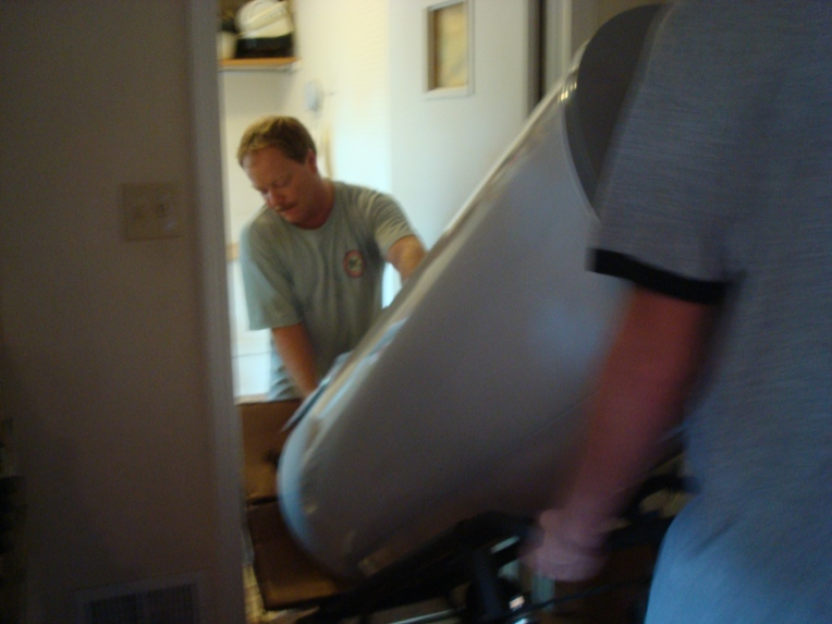 Ryan and his daddy - replacing our hot water heater