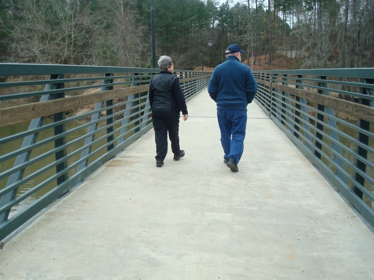 Mom and Dad, on our Christmas stroll at the tow path on the Savannah River, 2010