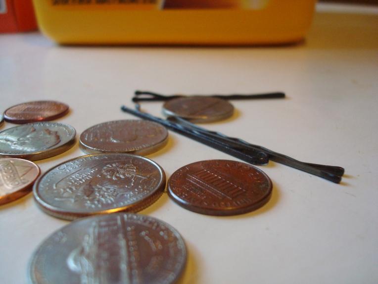 Bobby pins & coins