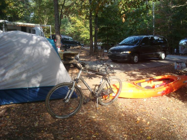 My tent, van, bike & boat