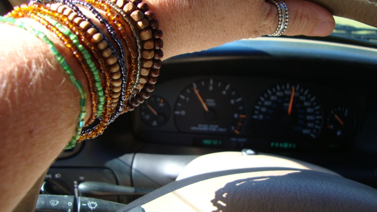 Stretch bracelets - and working van gauges! Yay!