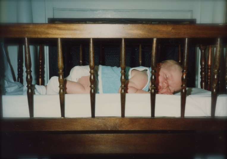 James as an infant. Probably just a week or two old