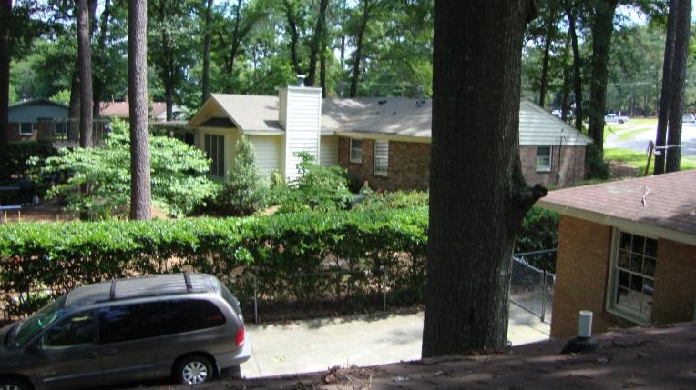 The next door neighbor's house