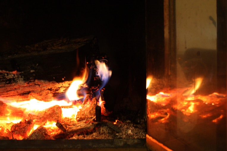 Fire reflecting warmth