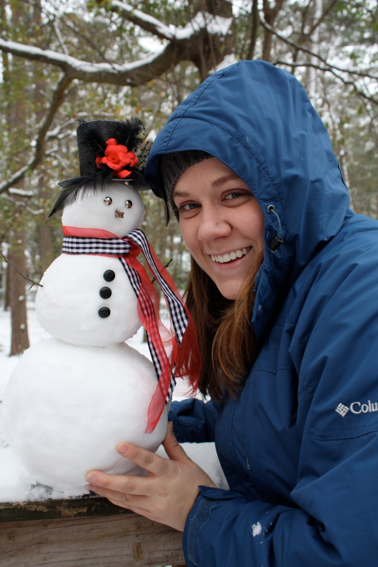 Glory and her Snowman