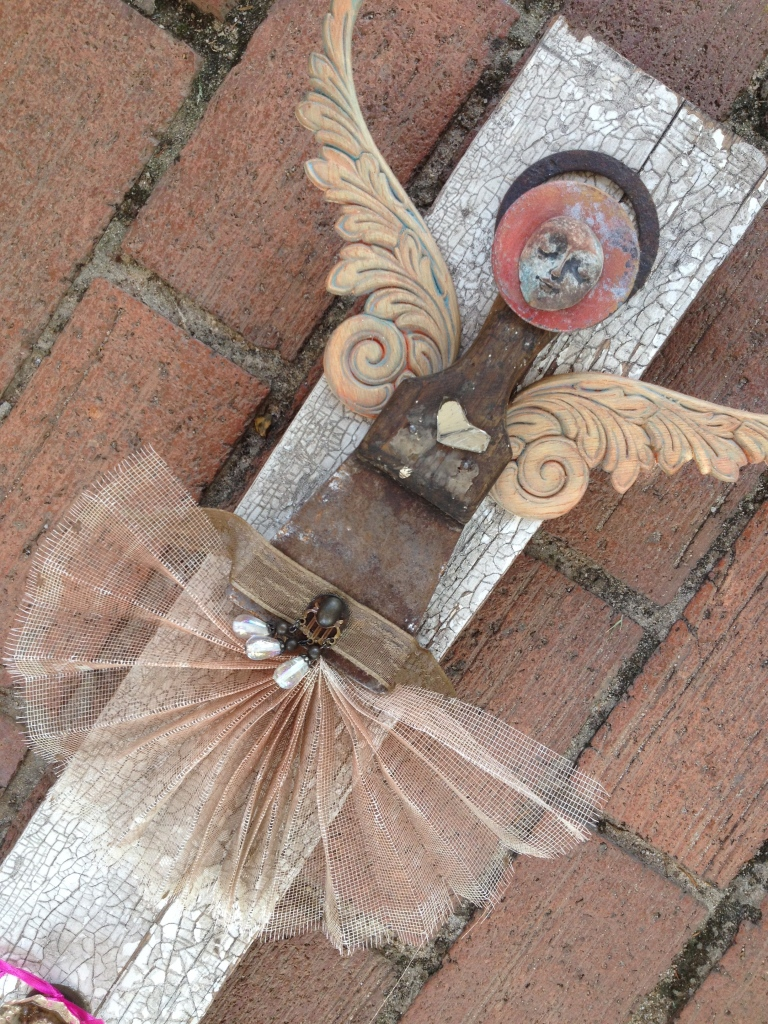 Wooden wings with a old soul - Assemblage by Gina Langston Brewer
