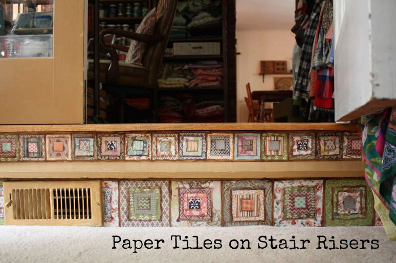 Paper Tiles on Stair Risers - a How To Guide