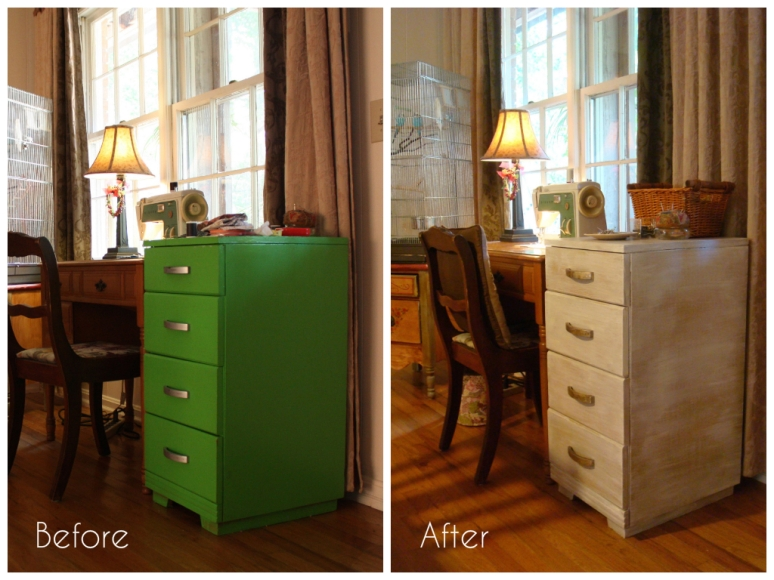 Before and After Sewing Cabinet
