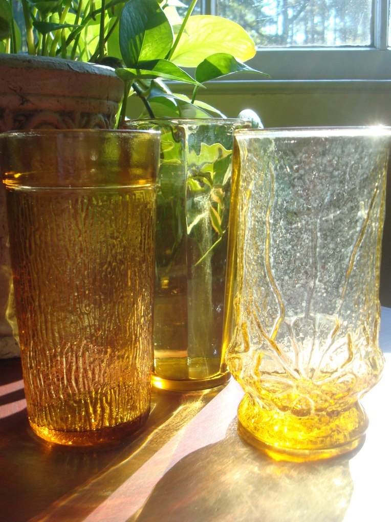 My newest Amber glassware <3