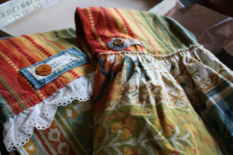 Hand sewn kitchen towels