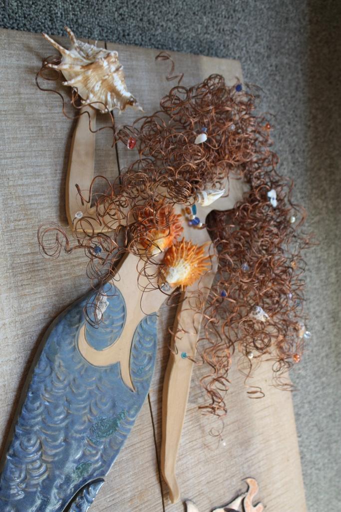 Elizabeth Collins' clay Mermaid