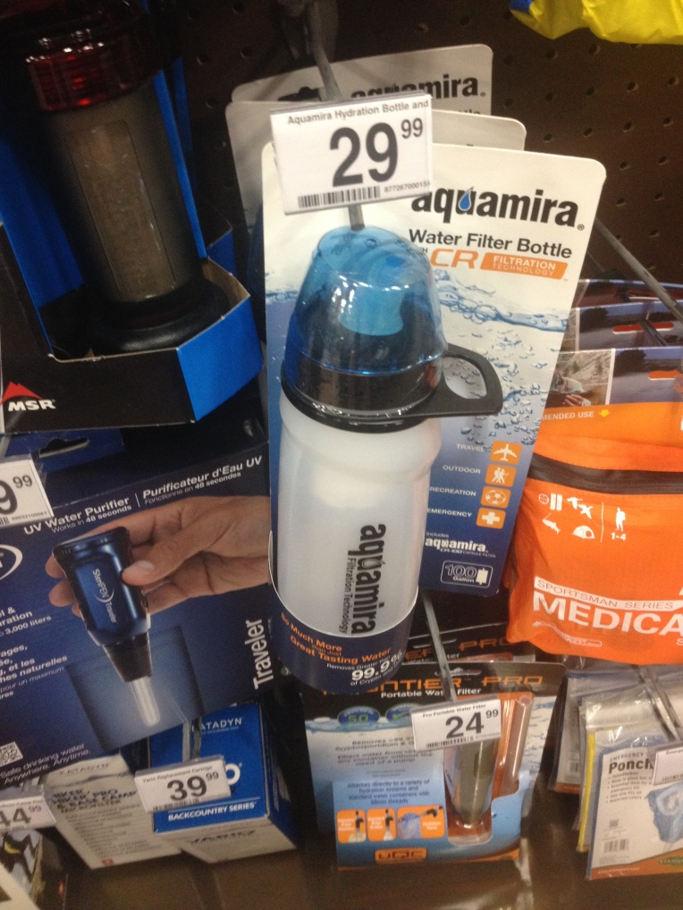 Aquamira Filtering Water Bottle