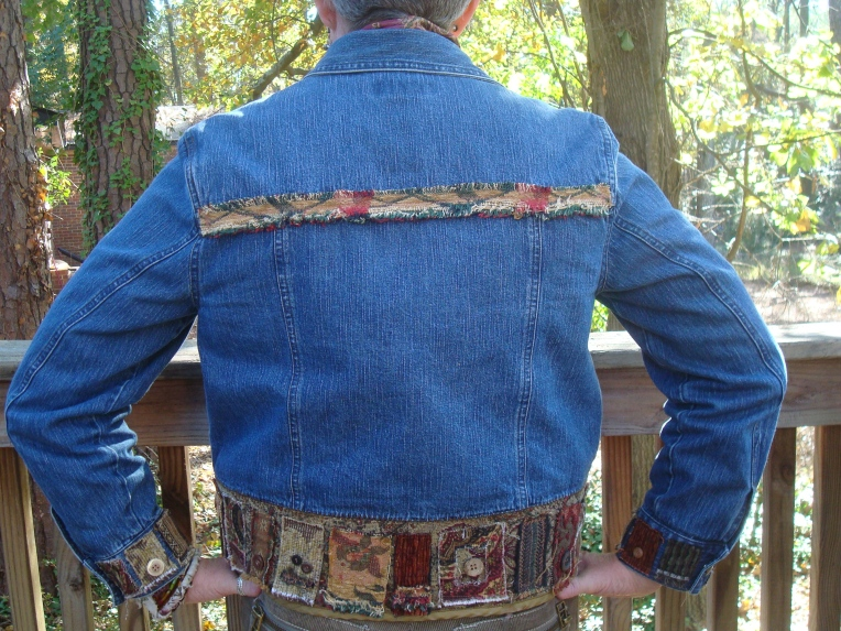 Back view of my magpie jacket