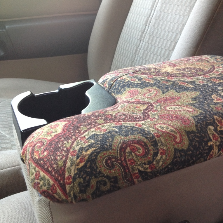 My reupholstered truck console/arm rest