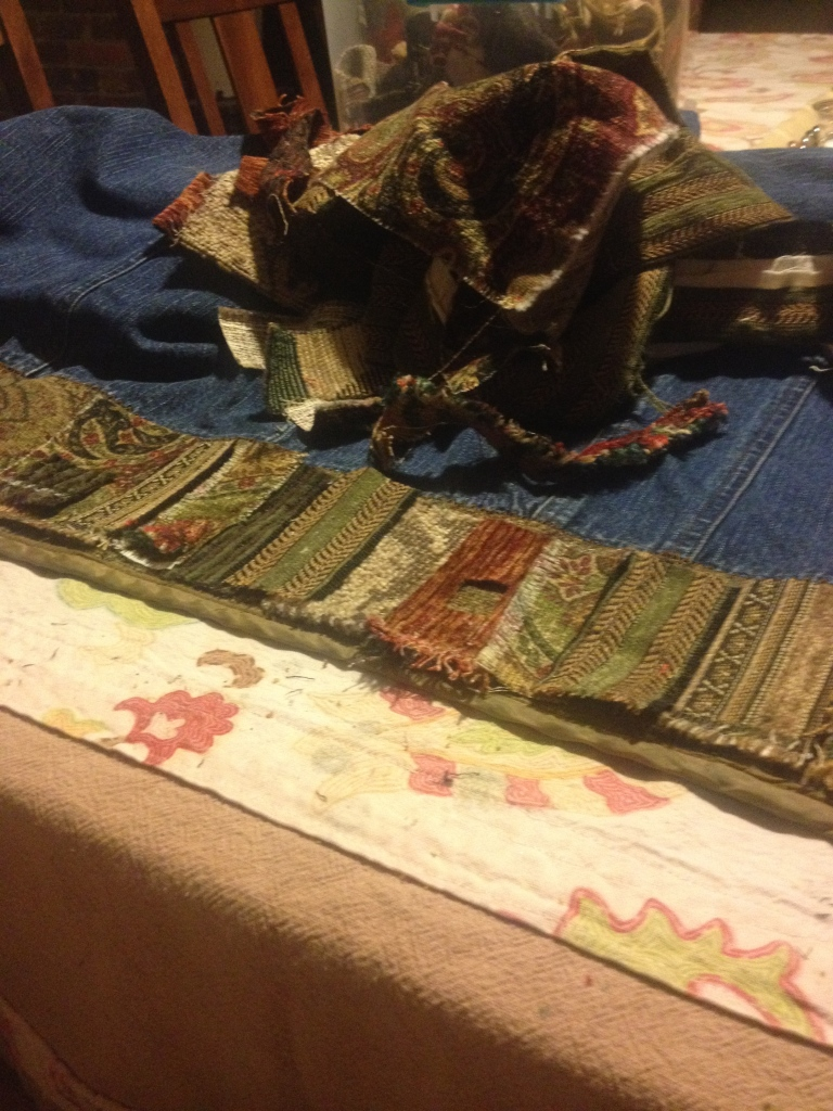 Laying out fabric squares/rectangles