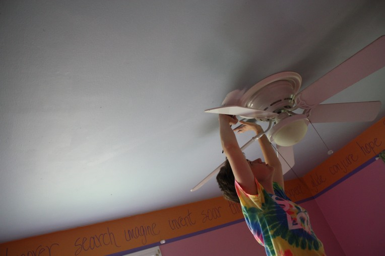 Edging the ceiling fan