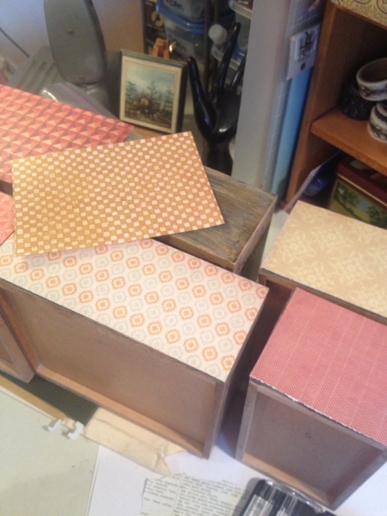 Paper on drawer fronts