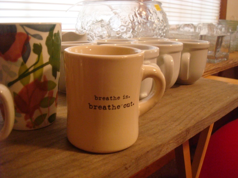 My Breathe in - Breathe out mug