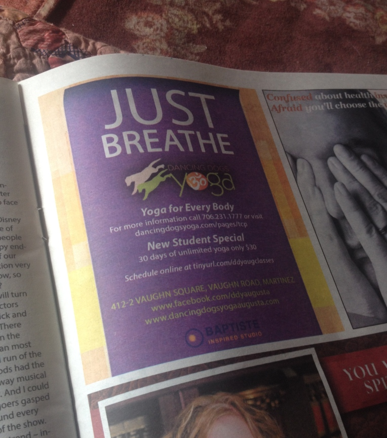 Just breathe - c/o Dancing Dogs Yoga Studio