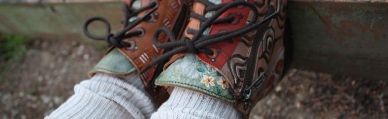BedStu handpainted boots - detail
