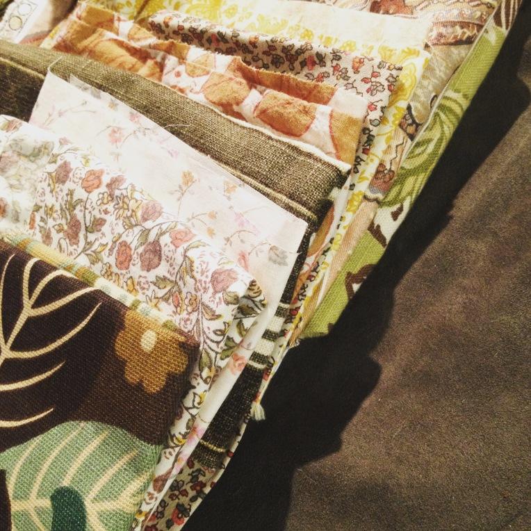 Woven pillow embellishing - gathering fabrics