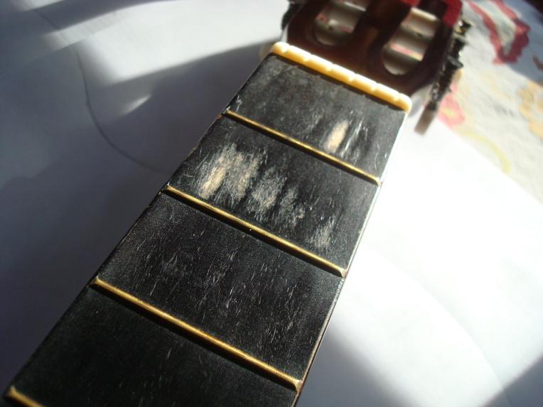 My sweet worn neck #paintedguitar